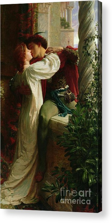 Romeo And Juliet Acrylic Print featuring the painting Romeo And Juliet by Sir Frank Dicksee