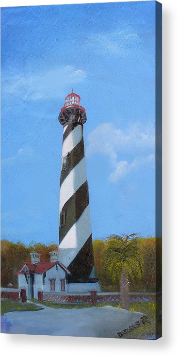 Lighthouse Acrylic Print featuring the painting St Augusstine Lighthouse by Darlene Green
