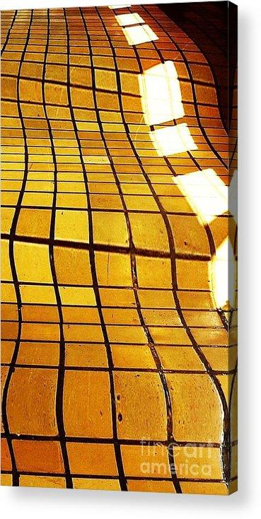 Tile Acrylic Print featuring the digital art Sunlight On Tile Floor by Kenna Westerman