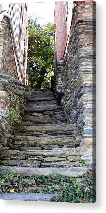 Stone Acrylic Print featuring the photograph The Stone Stairs by Rebecca Smith