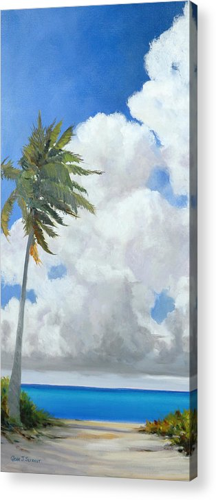 Landscape Acrylic Print featuring the painting A Perfect Day by Glenn Secrest