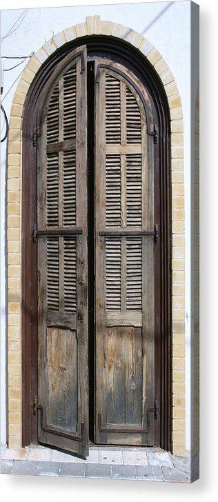 Door Acrylic Print featuring the photograph An Old Door In Neve Tzedek Tel Aviv by Shlomo Zangilevitch