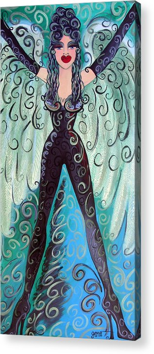 Angel Artwork Acrylic Print featuring the painting Fairy Angel Samantha by Helen Gerro