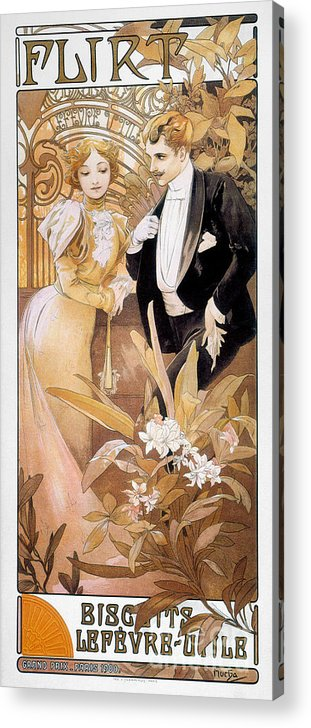 1895 Acrylic Print featuring the photograph Mucha: Biscuit Ad, C1895 by Granger