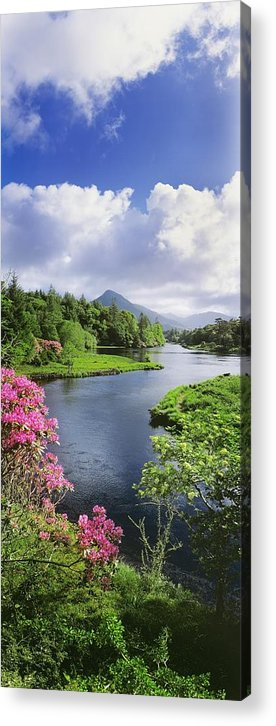 Beauty In Nature Acrylic Print featuring the photograph River Leading To A Mountain by The Irish Image Collection