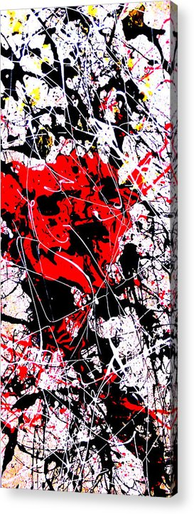 Abstract Art Acrylic Print featuring the painting Phillip by Paige Satchwell
