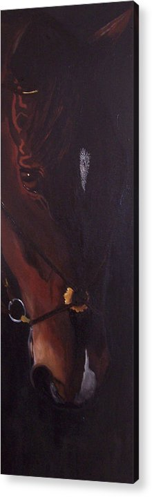 Horse Acrylic Print featuring the painting Bay by Kathy Laughlin
