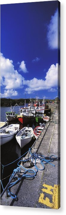 Bunbeg Acrylic Print featuring the photograph Bunbeg, Donegal, Ireland Harbour Of A by The Irish Image Collection