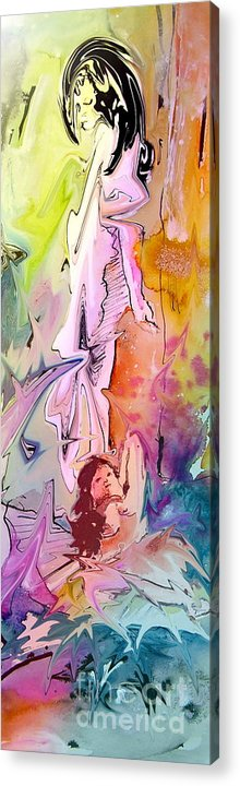 Miki Acrylic Print featuring the painting Eroscape 09 1 by Miki De Goodaboom