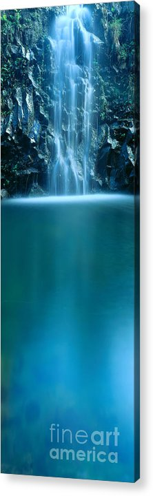 Active Acrylic Print featuring the photograph Falls Pool by Carl Shaneff - Printscapes