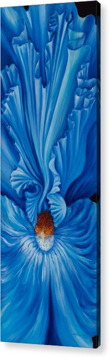 Flowers Acrylic Print featuring the painting Inner Lilly by Elsa Gallegos