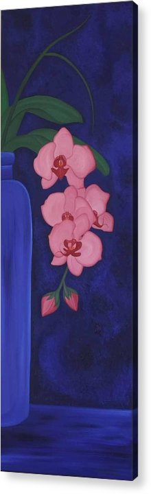 Marinella Owens Acrylic Print featuring the painting Orchide In A Vase by Marinella Owens
