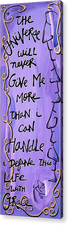 Gallery Acrylic Print featuring the painting Quatrain Grace by Dar Freeland