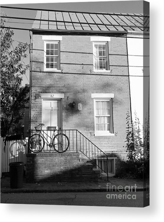 Buildings Acrylic Print featuring the photograph Waiting For A Rider by Mary Haber
