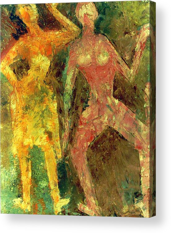 Oil On X-ray Film Acrylic Print featuring the painting Dance Dance Dance by Anand Swaroop Manchiraju