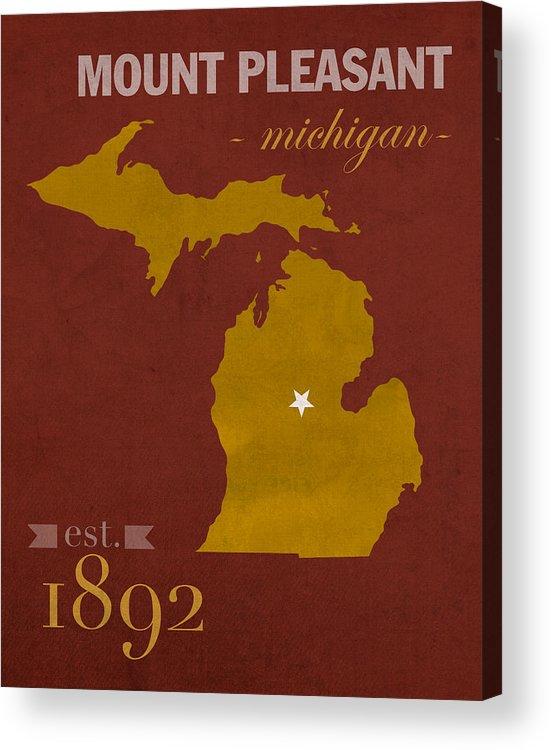 Central Michigan University Map on