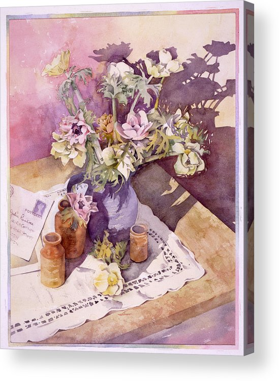 Julia Rowntree Acrylic Print featuring the photograph Evening Anemones by Julia Rowntree