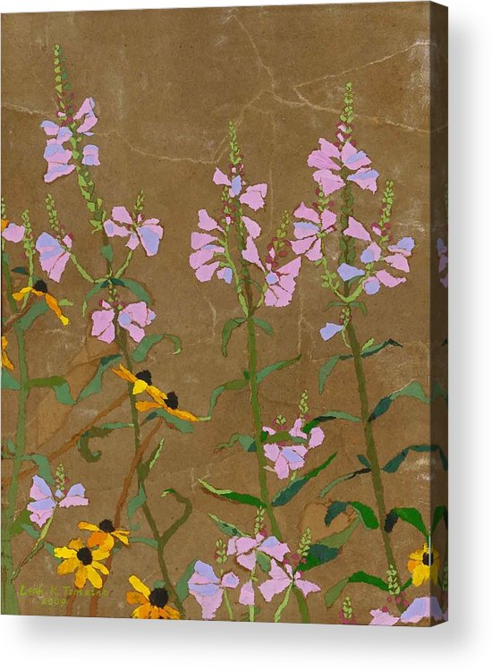 Floral Acrylic Print featuring the painting For Jack From Woodstock by Leah Tomaino