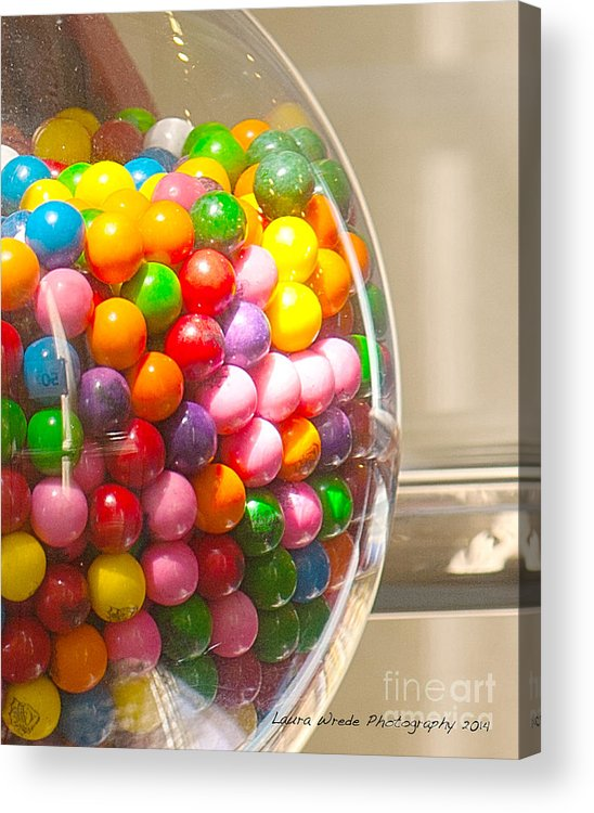 Gumball Machine Acrylic Print featuring the photograph Gumball Machine by Artist and Photographer Laura Wrede