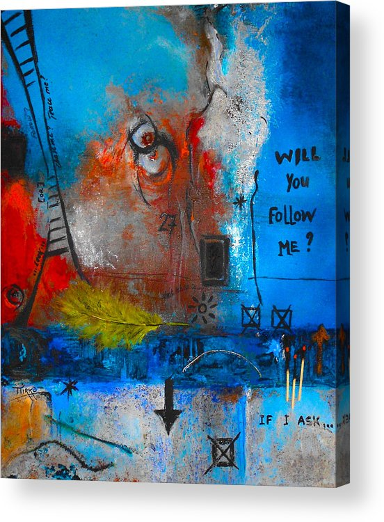 Abstract Acrylic Print featuring the painting If I Ask by Mirko Gallery