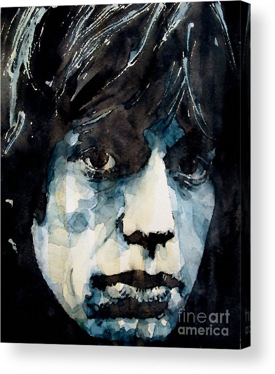 Mick Jagger Acrylic Print featuring the painting Jagger No3 by Paul Lovering