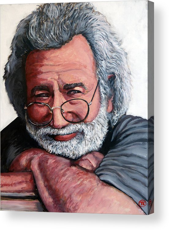 Jerry Acrylic Print featuring the painting Jerry Garcia by Tom Roderick
