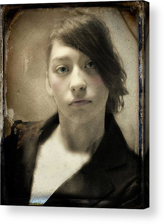 Tintype Acrylic Print featuring the photograph Melancholy Mattie by Tom Thompson