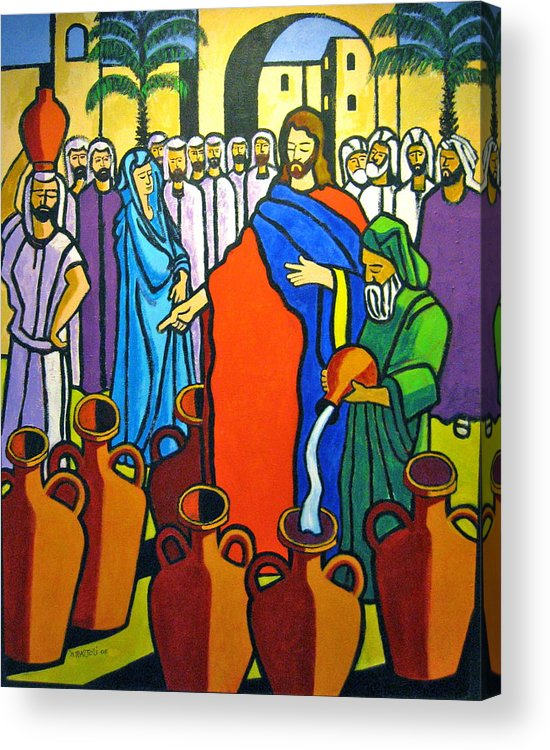 Religious Acrylic Print featuring the painting Miracle At Cana by Nicholas Martori