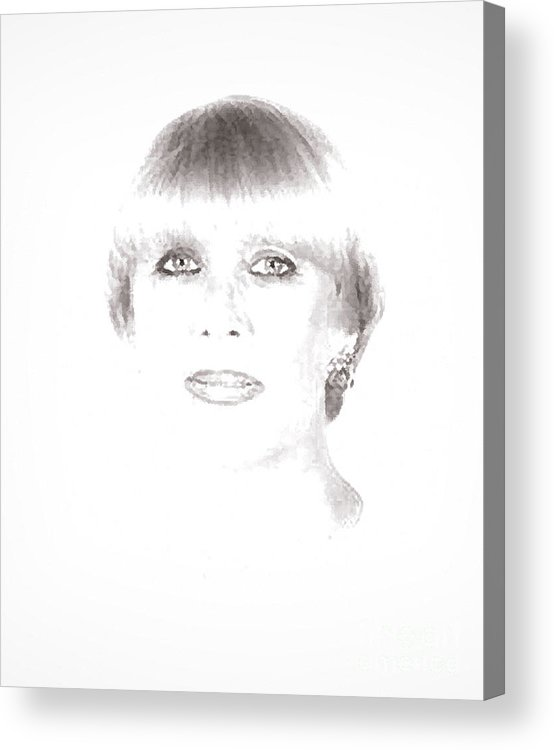 Portrait Acrylic Print featuring the photograph Old Selfie by Siera Anthony