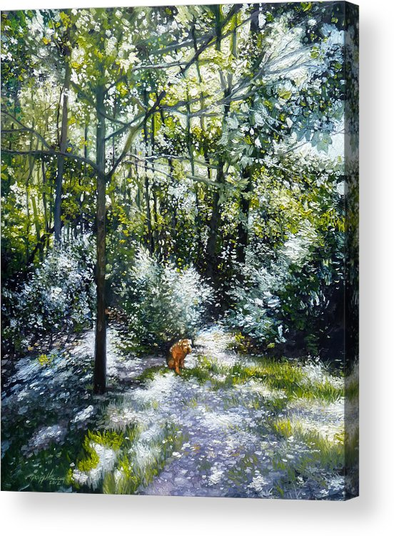 Dog Acrylic Print featuring the painting Willow by Gregg Hinlicky