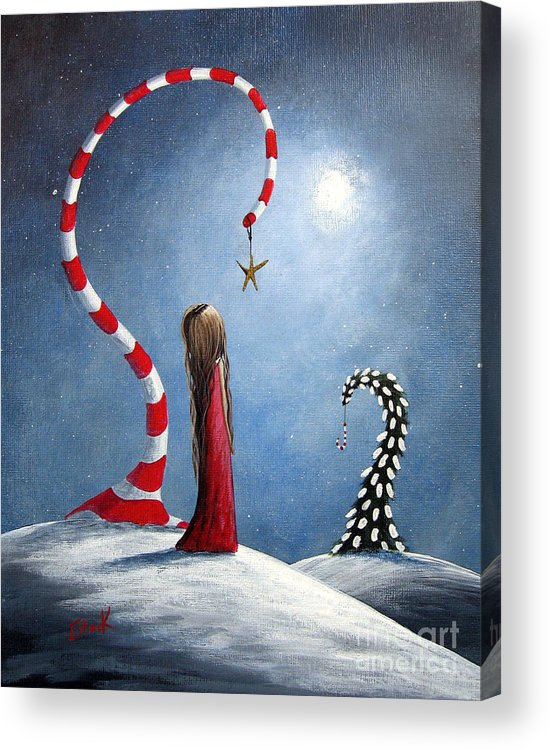 Holiday Acrylic Print featuring the painting Wishing Star By Shawna Erback by Erback Art