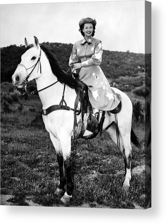 1950s Candids Acrylic Print featuring the photograph Dale Evans 1912-2001, American Actress by Everett