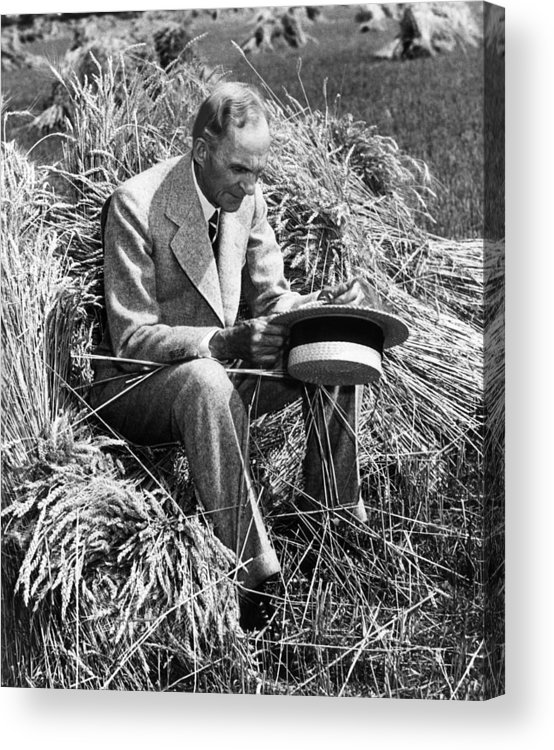 Contemplative Acrylic Print featuring the photograph Henry Ford, 1863-1947 by Everett