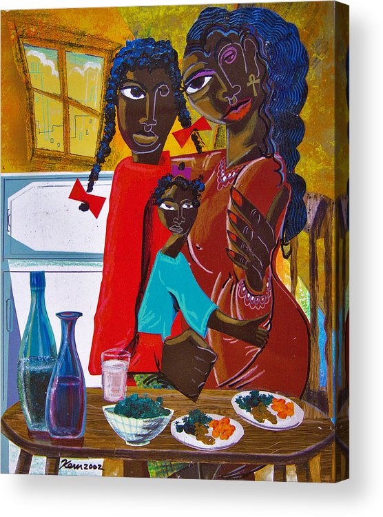 Acrylic Print featuring the painting Dinner With Mom by Kevin McDowell