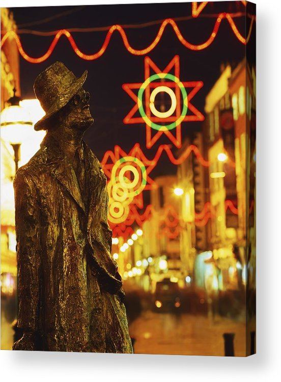 Color Acrylic Print featuring the photograph Dublin, Co Dublin, Ireland Sculpture Of by The Irish Image Collection