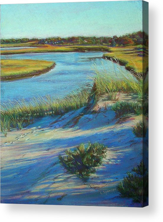 Horseneck Acrylic Print featuring the painting Horseneck Marsh by Linda Spencer
