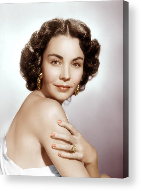 1950s Portraits Acrylic Print featuring the photograph Jennifer Jones, Ca. Early 1950s by Everett