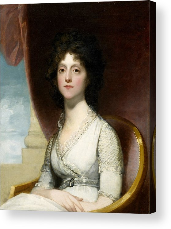 Female Acrylic Print featuring the painting Marianne Ashley Walker by Gilbert Stuart