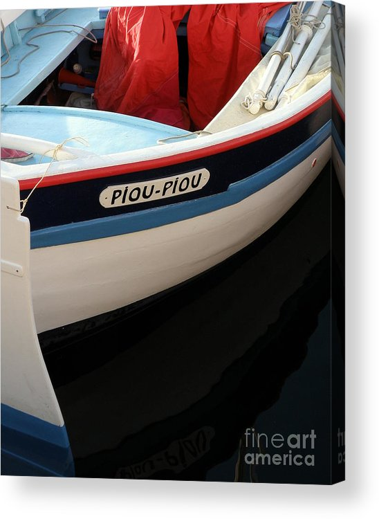 Boat Acrylic Print featuring the photograph Piou - Piou by Lainie Wrightson