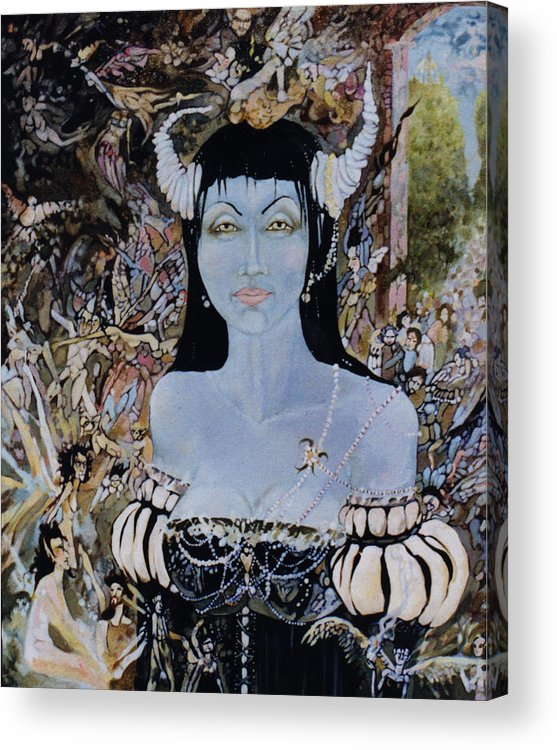 Acrylic Print featuring the drawing Queen Mab 1 by Jackie Rock