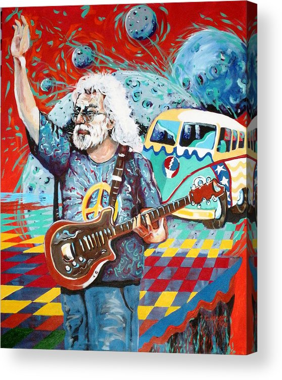 Woodstock Acrylic Print featuring the painting The Dead On The Edge - Sold by Chuck Jensen