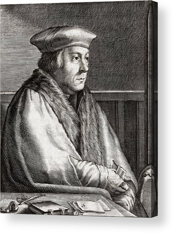 Thomas Acrylic Print featuring the photograph Thomas Cromwell, English Statesman by Middle Temple Library