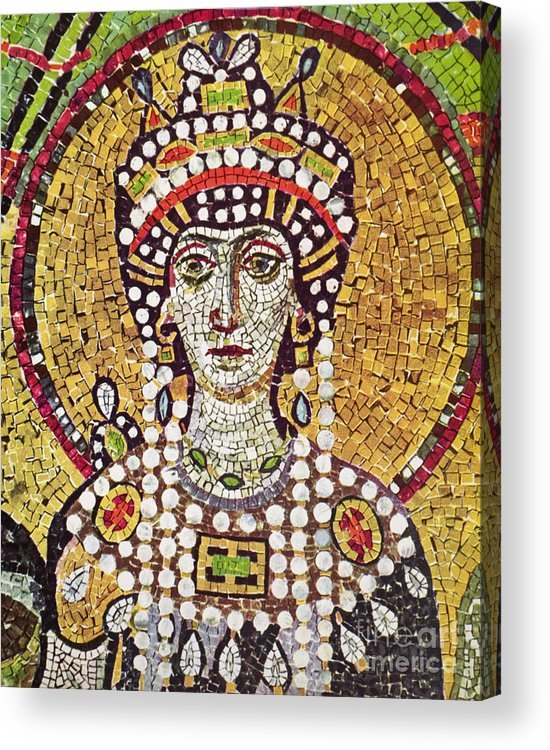 6th Century Acrylic Print featuring the painting Theodora (c508-548) by Granger