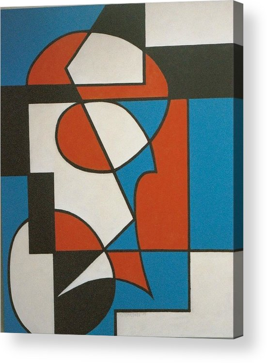 Abstract Acrylic Print featuring the painting Calypso by Nicholas Martori