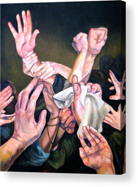 Acrylic Print featuring the photograph Hands by Douglas Manry