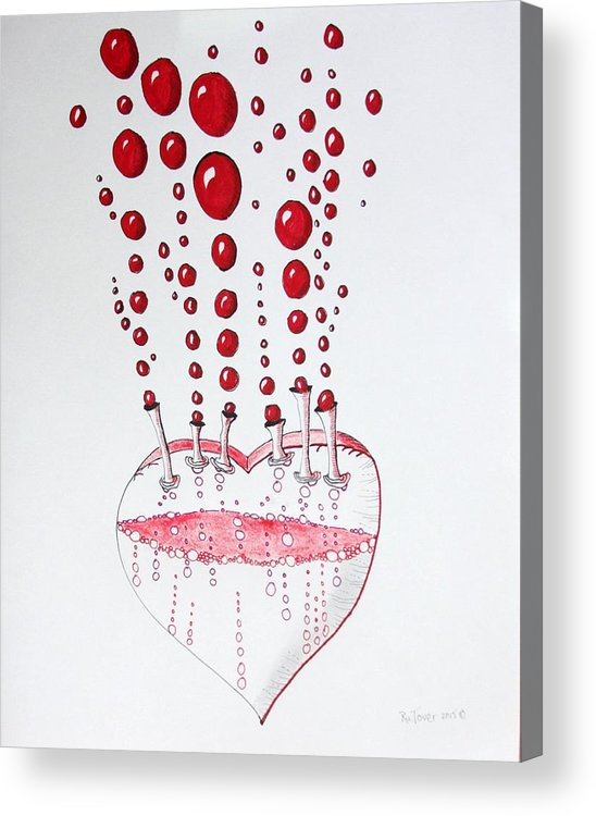 Ink On Paper Acrylic Print featuring the photograph Absolution Of Amour by Ru Tover