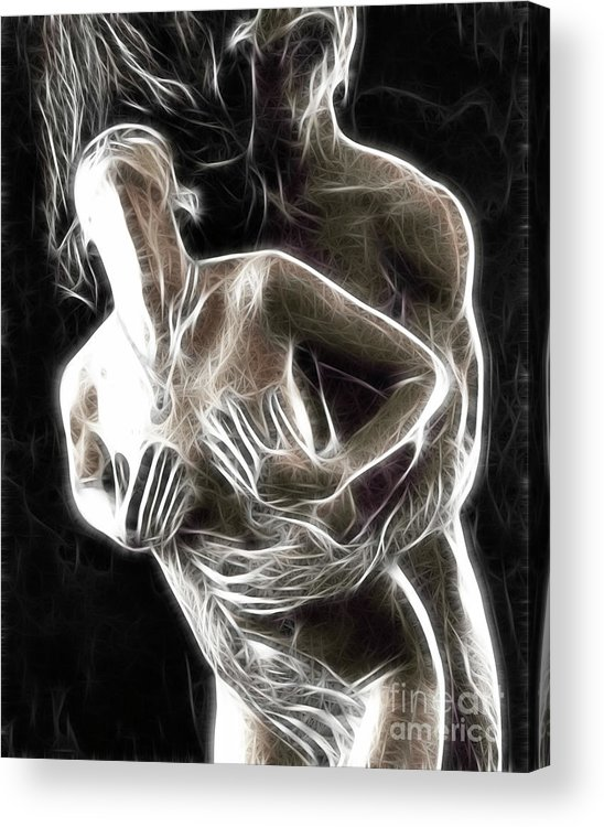 Sex Acrylic Print featuring the photograph Abstract Digital Artwork Of A Couple Making Love by Oleksiy Maksymenko