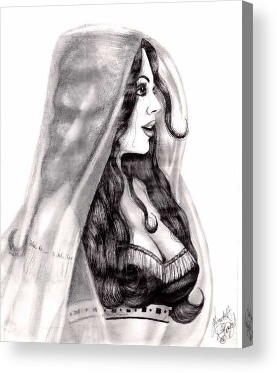 Figure Acrylic Print featuring the drawing Arabian Beauty by Scarlett Royal