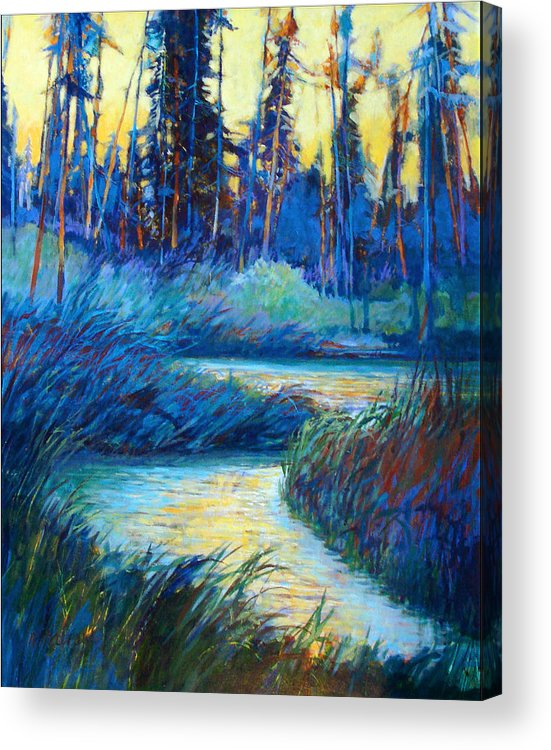 Landscape Acrylic Print featuring the painting Backwater Light by Dale Witherow
