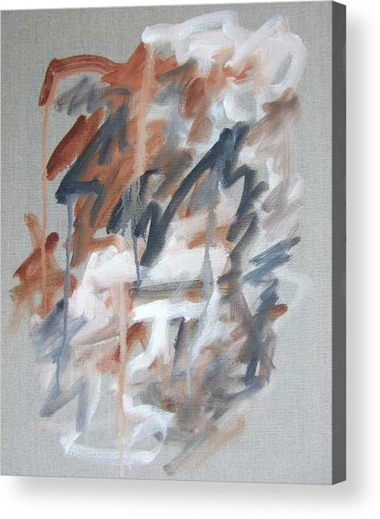 Abstract Acrylic Print featuring the painting Black And Tan No 1 by Michael Henderson